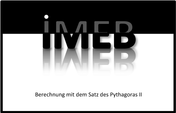 Beziehungen in geometrischen Figuren - Berechnung mit dem Satz des Pythagoras II