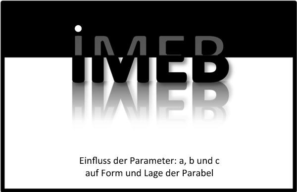 Verallgemeinerung bei Funktionen und Gleichungen - Einfluss der Parameter: a, b und c auf Form und Lage der Parabel