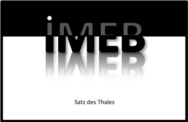 Beziehungen in geometrischen Figuren - Satz des Thales